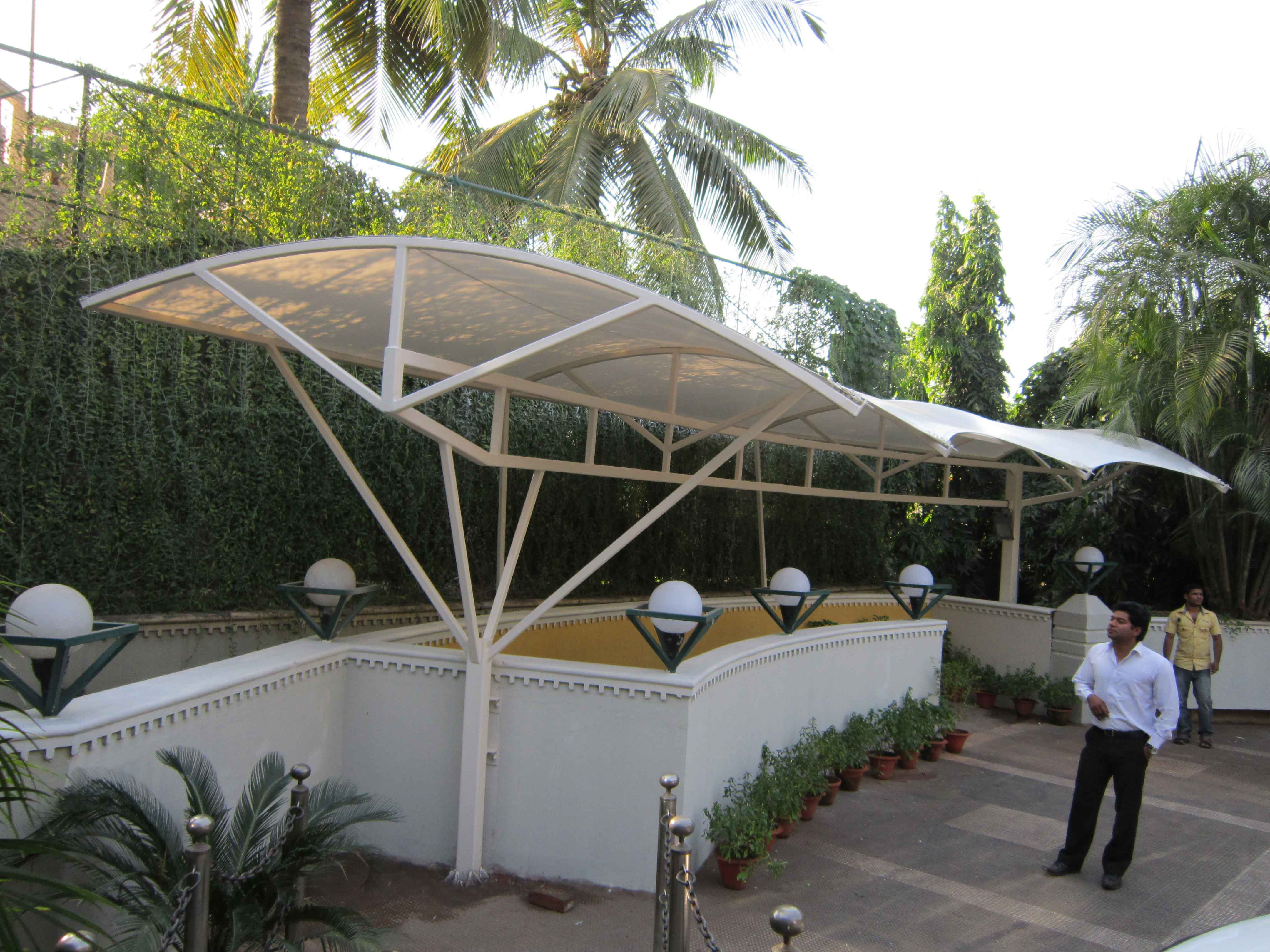 landscape fabric structure of hotel crown