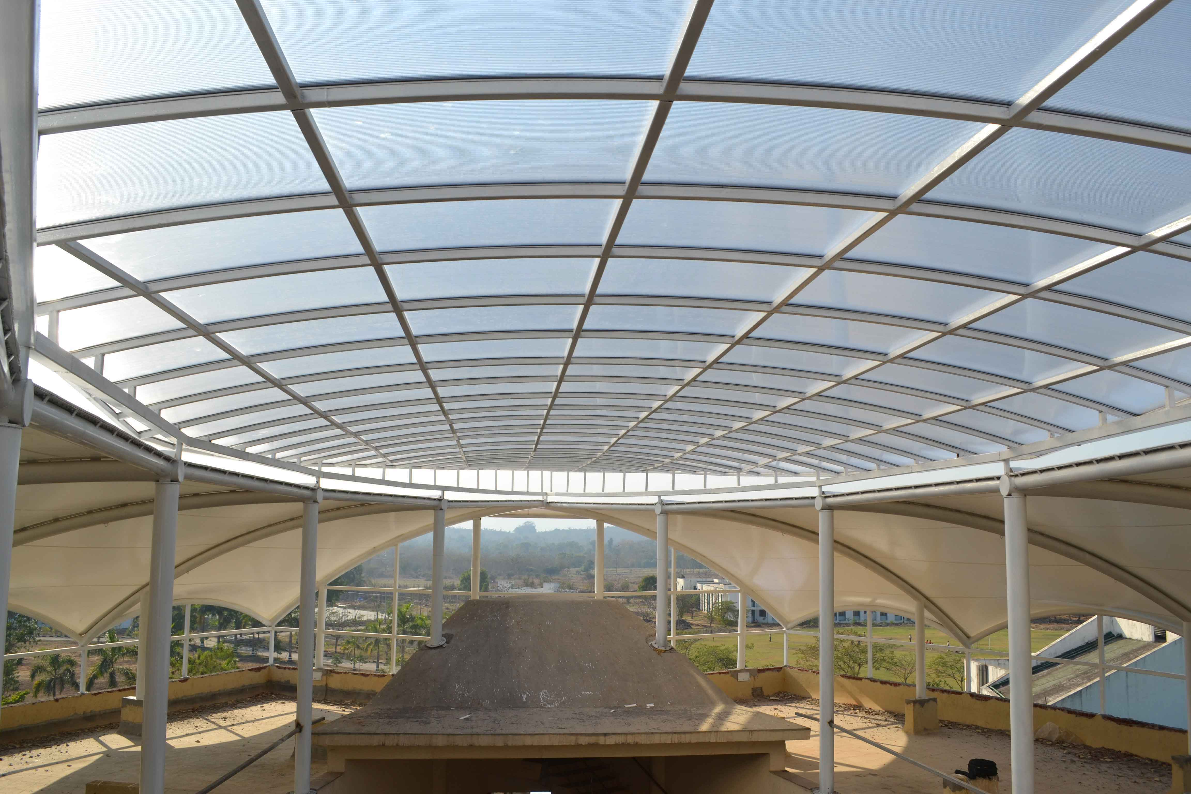 ravera international school roof shade fabric structure in palghar, thane, maharashtra, india