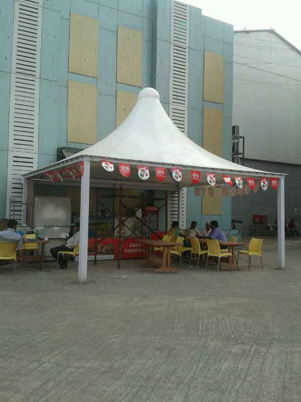 sj studio food court and car parking structures in andheri, mumbai, maharashtra
